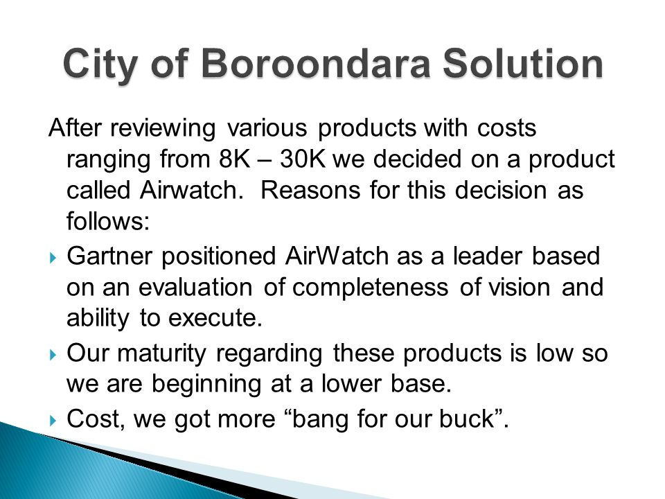City of Boroondara Solution