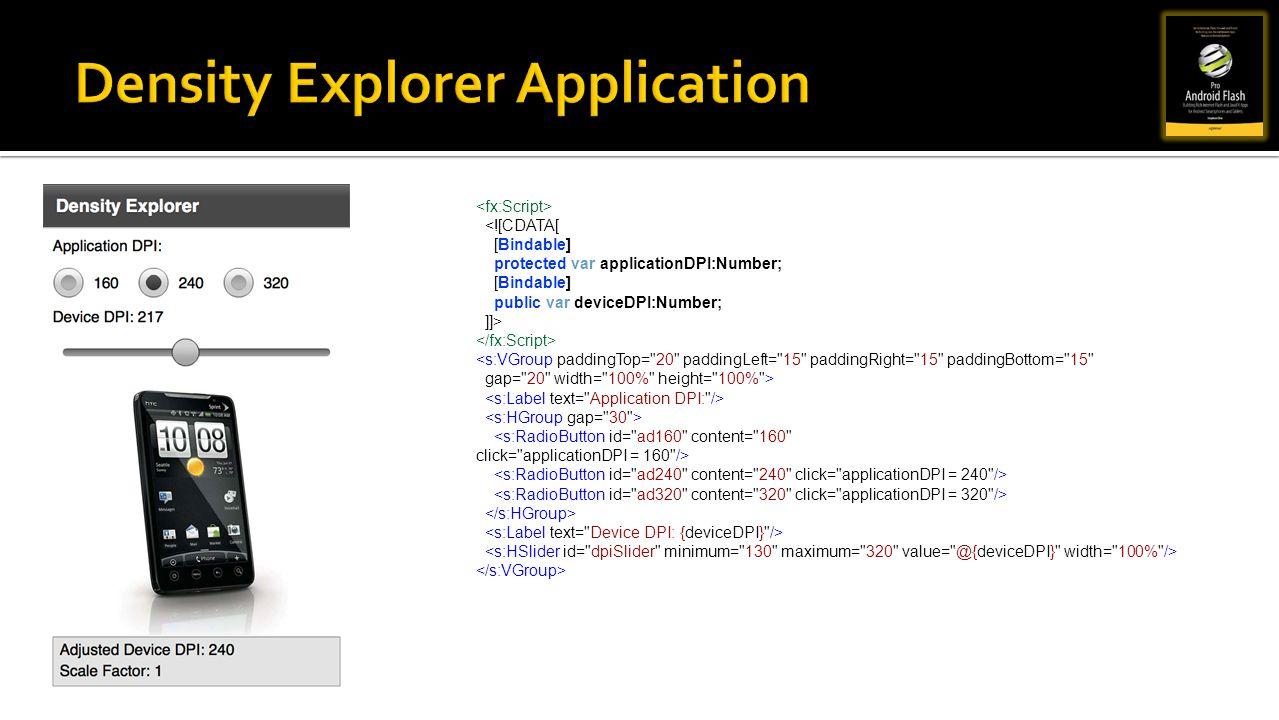 Density Explorer Application