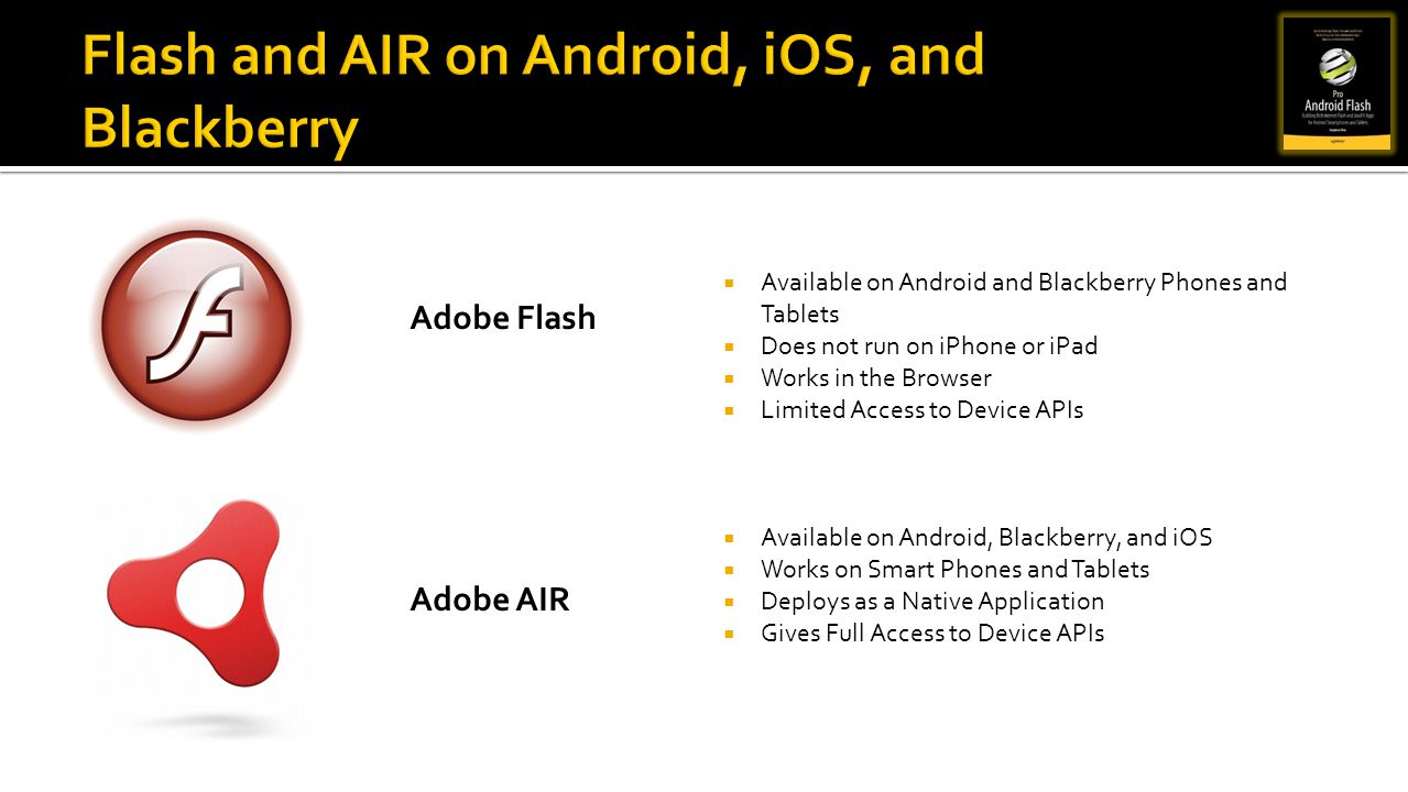 Flash and AIR on Android, iOS, and Blackberry