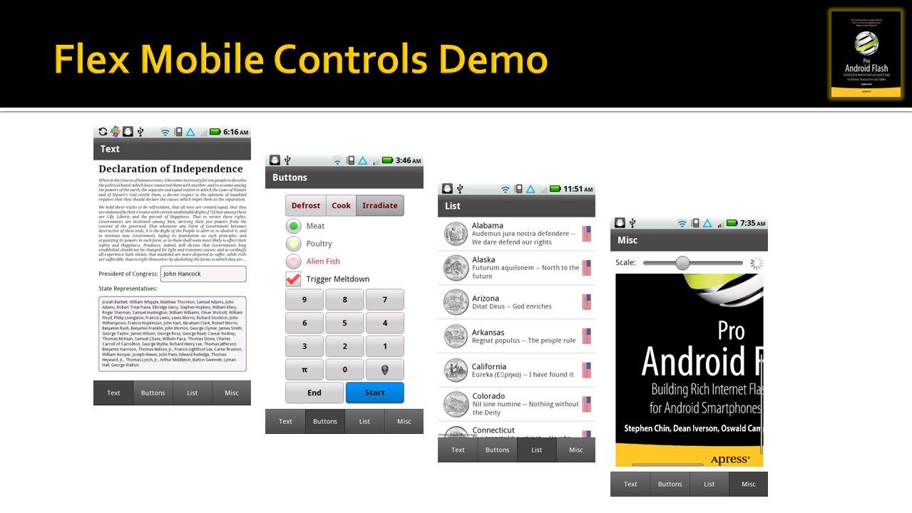 Flex Mobile Controls Demo