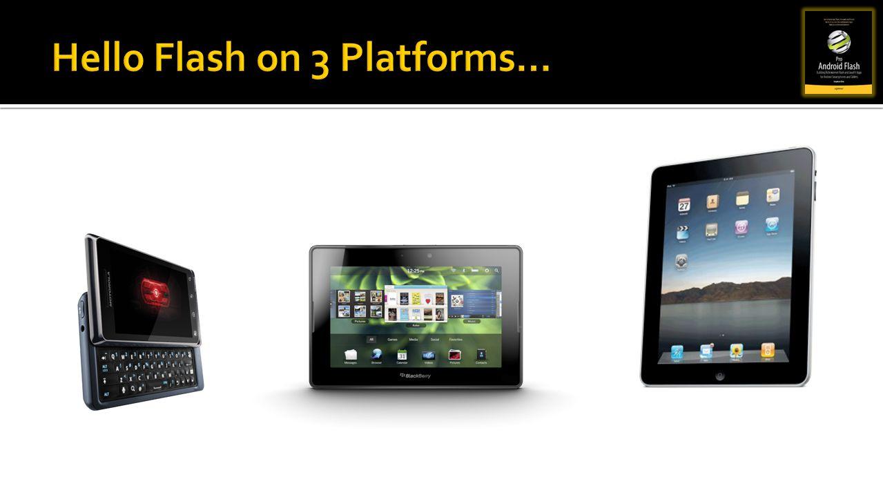 Hello Flash on 3 Platforms…
