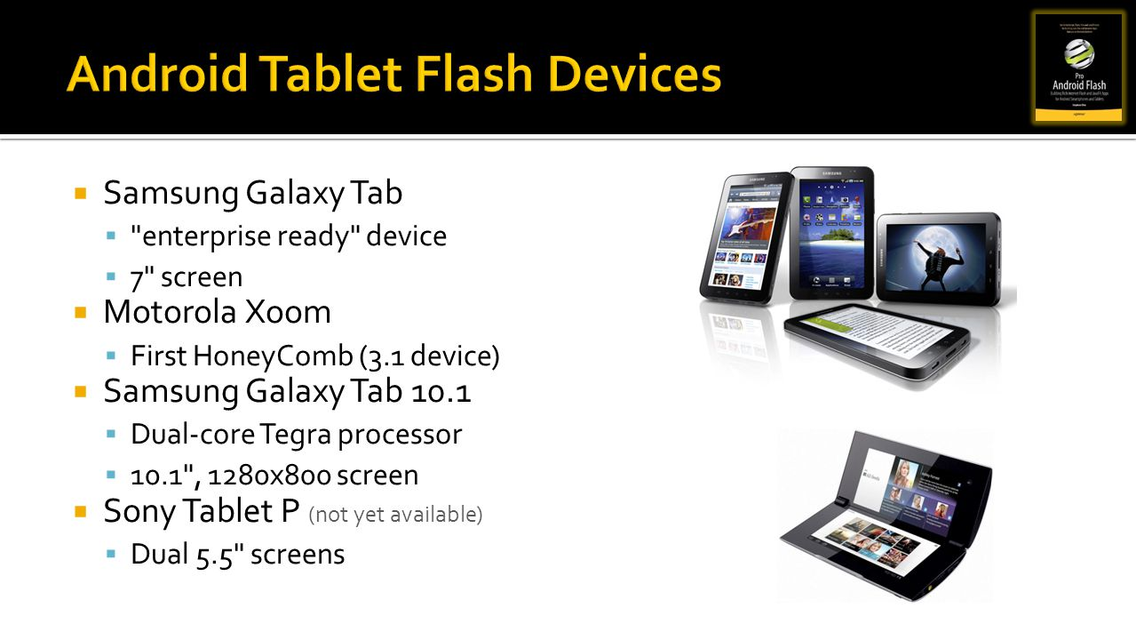 Android Tablet Flash Devices