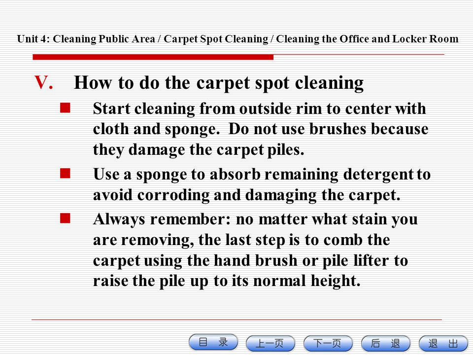 How to do the carpet spot cleaning