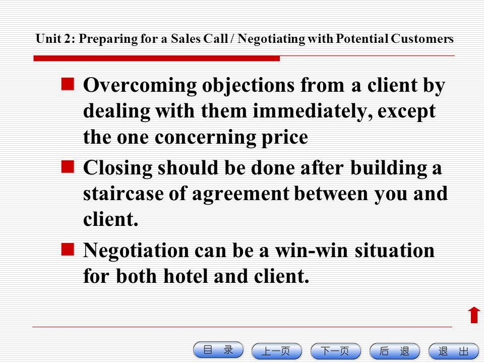 Negotiation can be a win-win situation for both hotel and client.