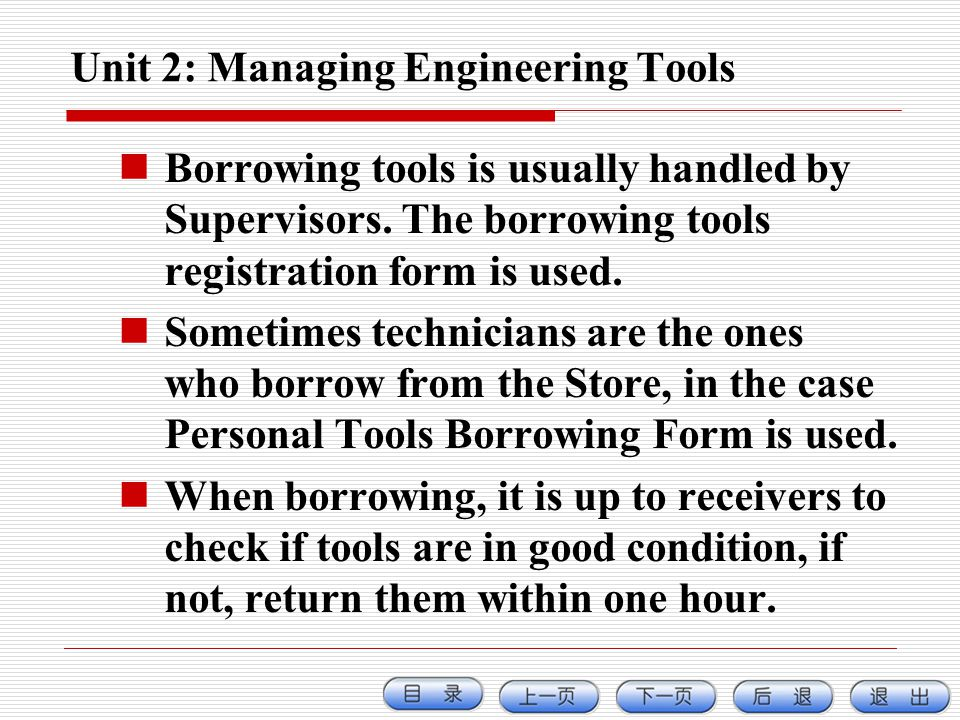 Unit 2: Managing Engineering Tools