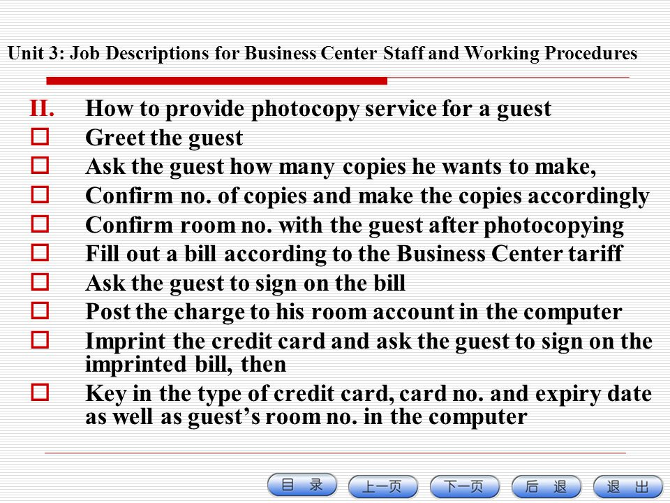 How to provide photocopy service for a guest Greet the guest