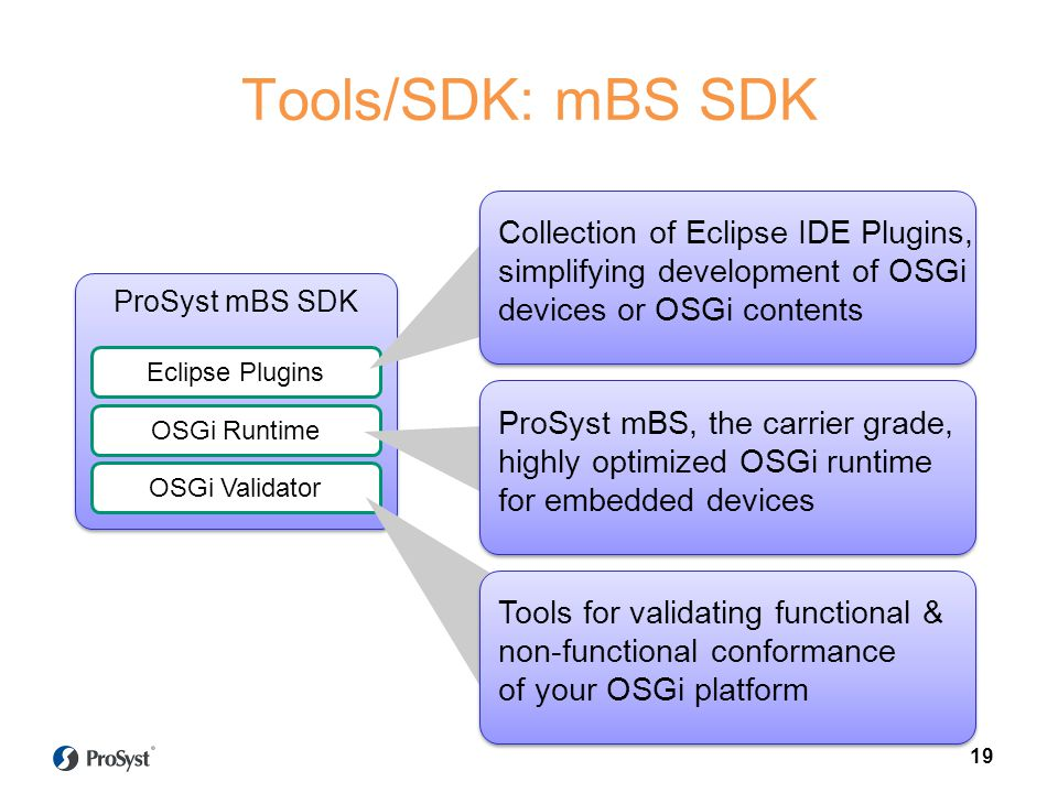 Tools/SDK: mBS SDK Collection of Eclipse IDE Plugins,
