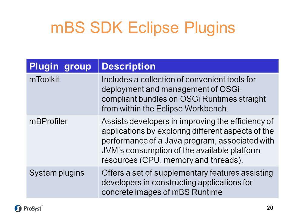 mBS SDK Eclipse Plugins