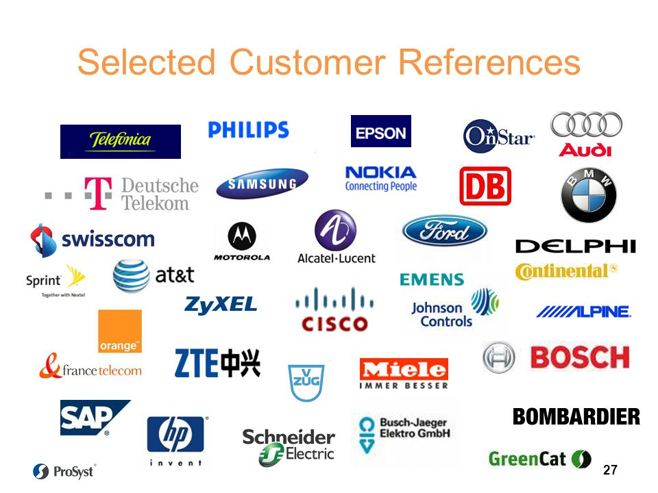Selected Customer References