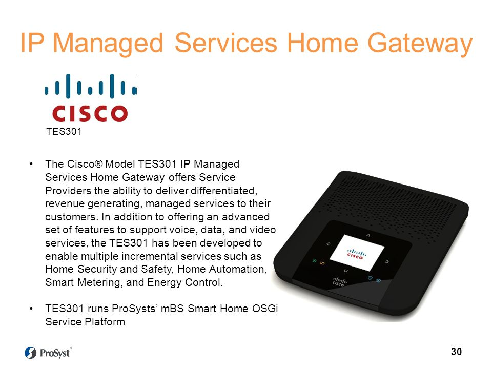 IP Managed Services Home Gateway