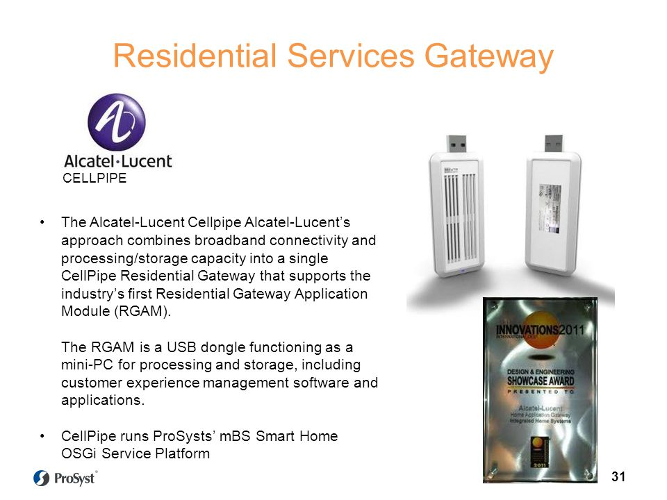 Residential Services Gateway