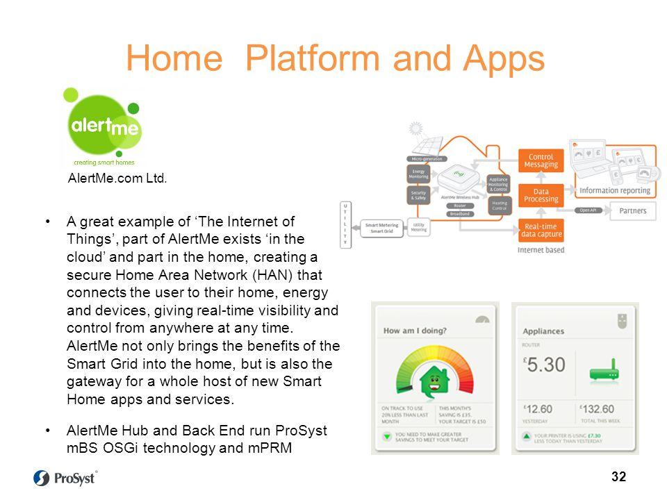 Home Platform and Apps AlertMe.com Ltd.
