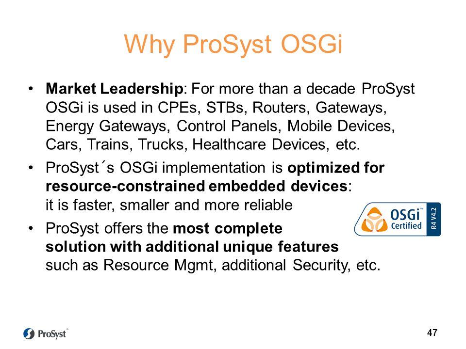 Why ProSyst OSGi