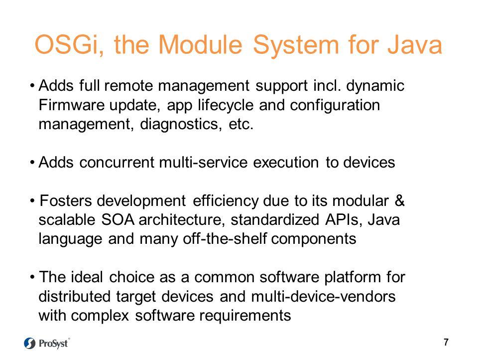 OSGi, the Module System for Java