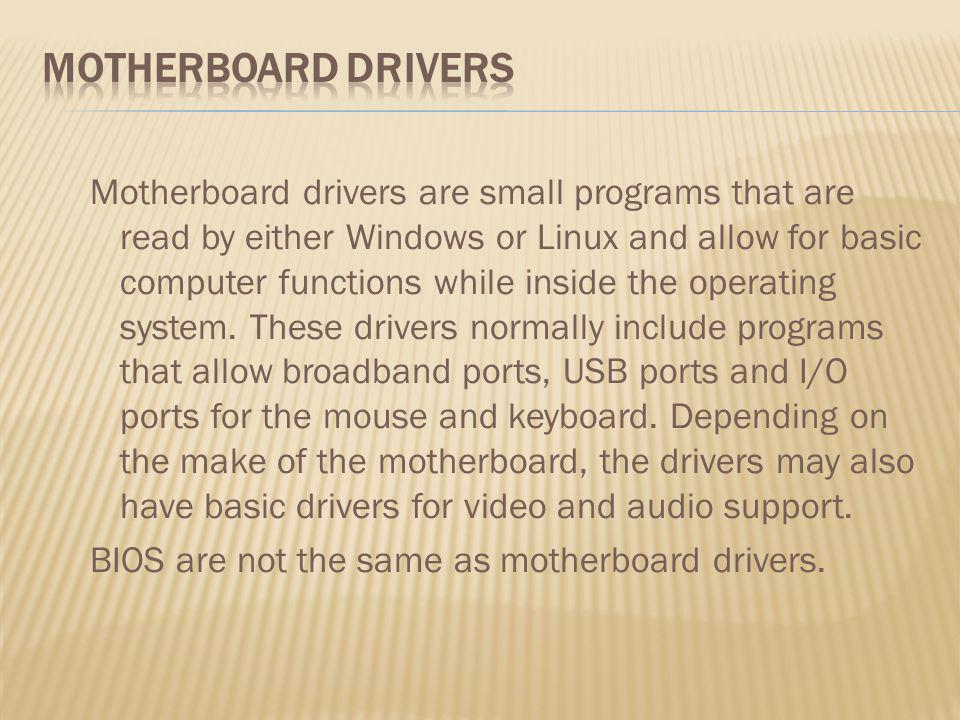 Motherboard Drivers