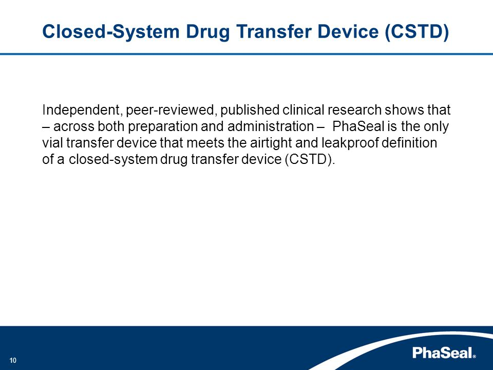 Closed-System Drug Transfer Device (CSTD)