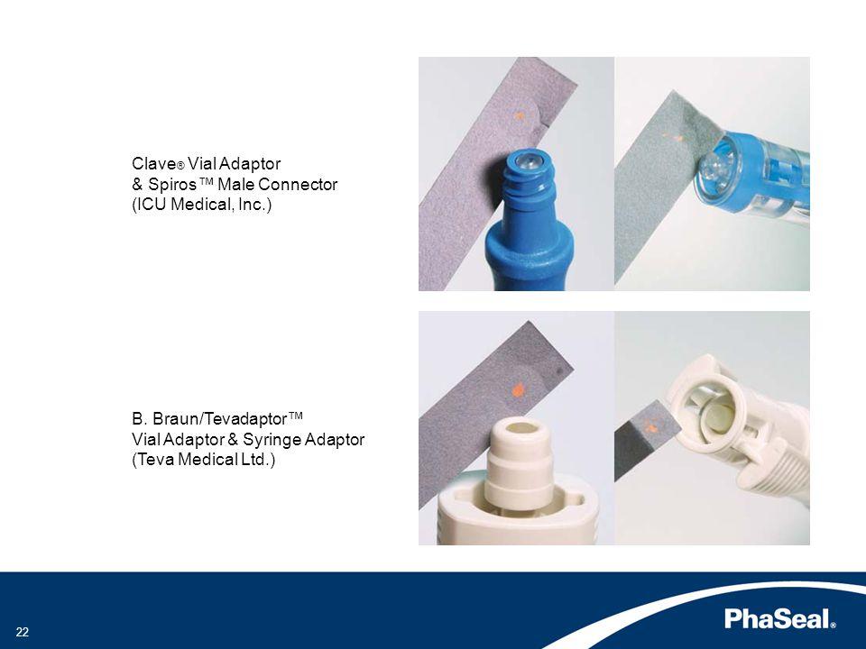 Clave® Vial Adaptor & Spiros™ Male Connector