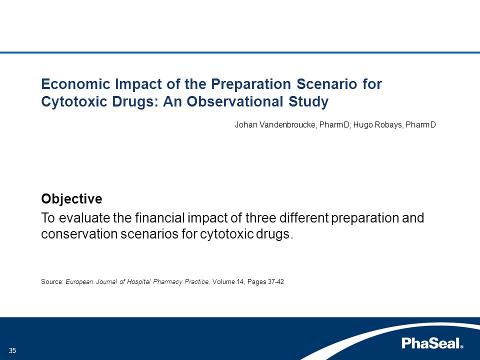 Economic Impact of the Preparation Scenario for Cytotoxic Drugs: An Observational Study