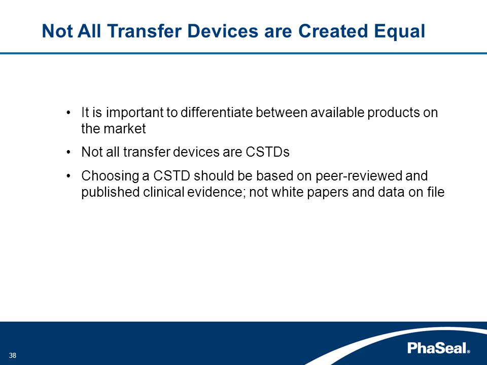Not All Transfer Devices are Created Equal