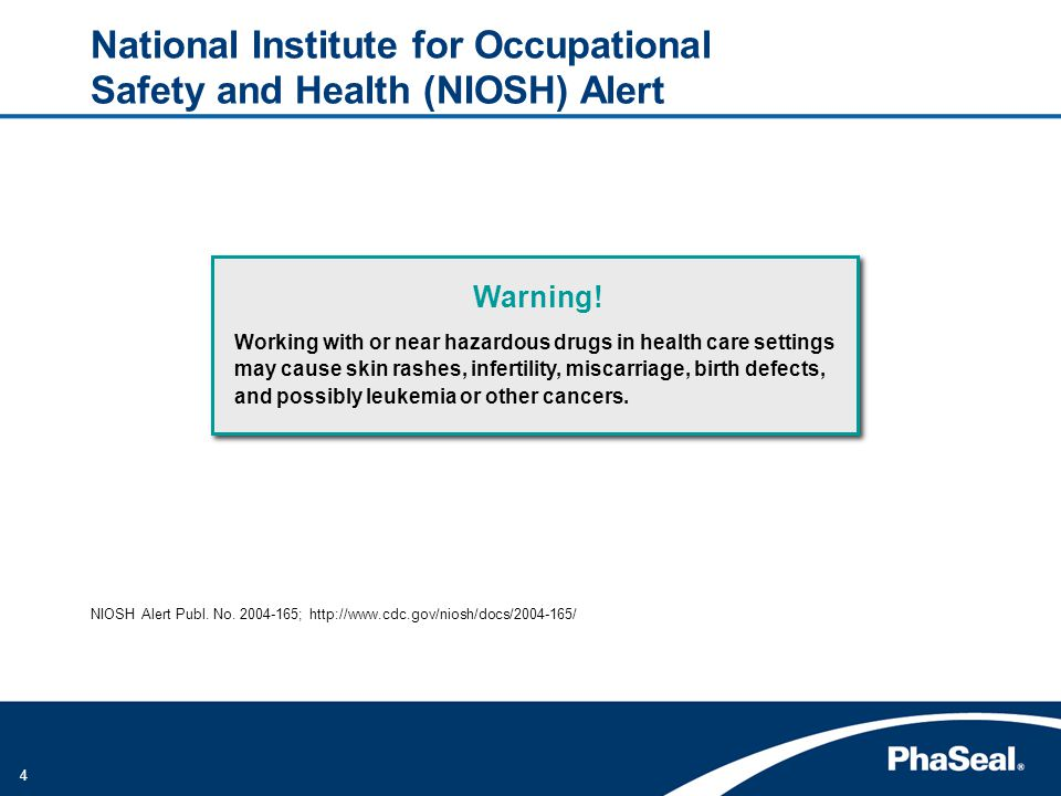 National Institute for Occupational Safety and Health (NIOSH) Alert