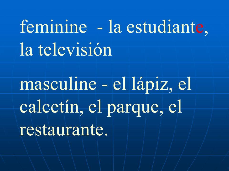 feminine - la estudiante, la televisión