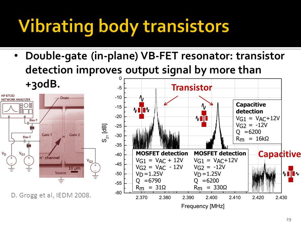 Vibrating body transistors