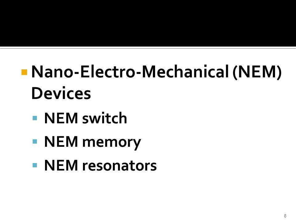 Nano-Electro-Mechanical (NEM) Devices