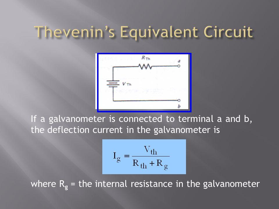 Thevenin's Equivalent Circuit