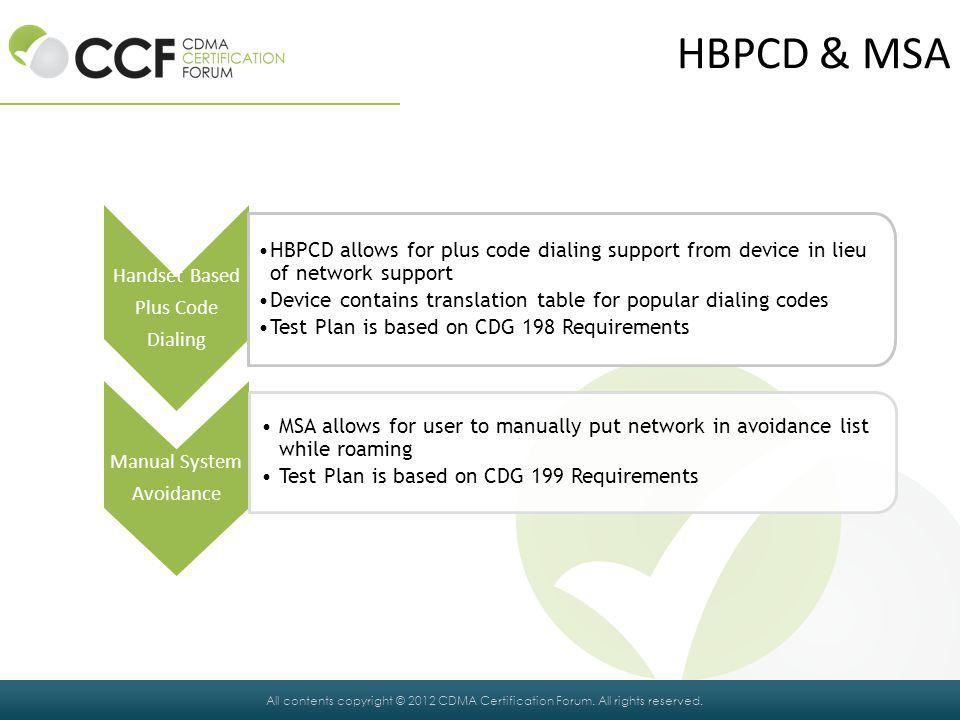 HBPCD & MSA Handset Based Plus Code Dialing