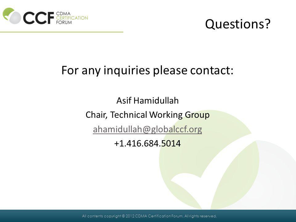 Questions For any inquiries please contact: Asif Hamidullah
