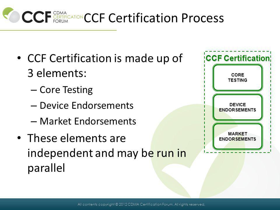 CCF Certification Process