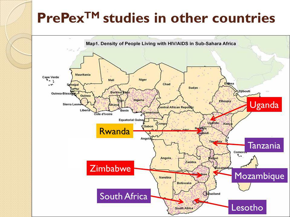 PrePexTM studies in other countries
