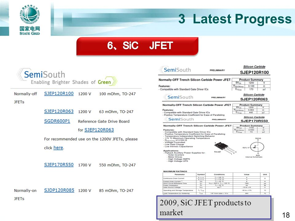 3.4 SiC JFET 3 Latest Progress 6、SiC JFET