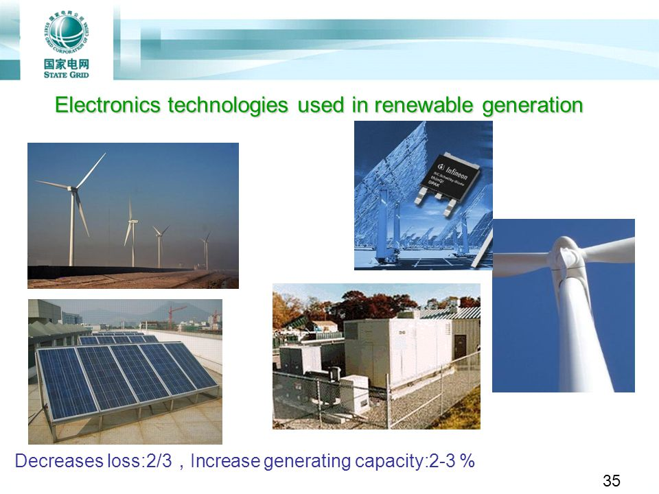 Electronics technologies used in renewable generation