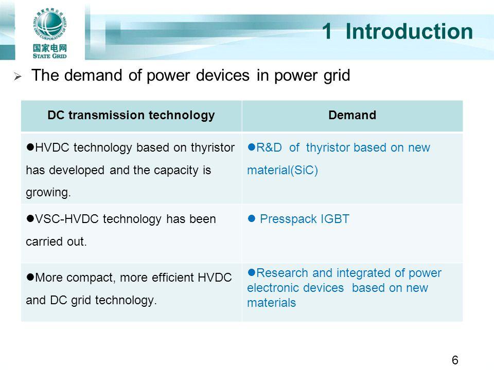 DC transmission technology