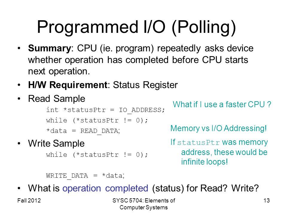 Programmed I/O (Polling)