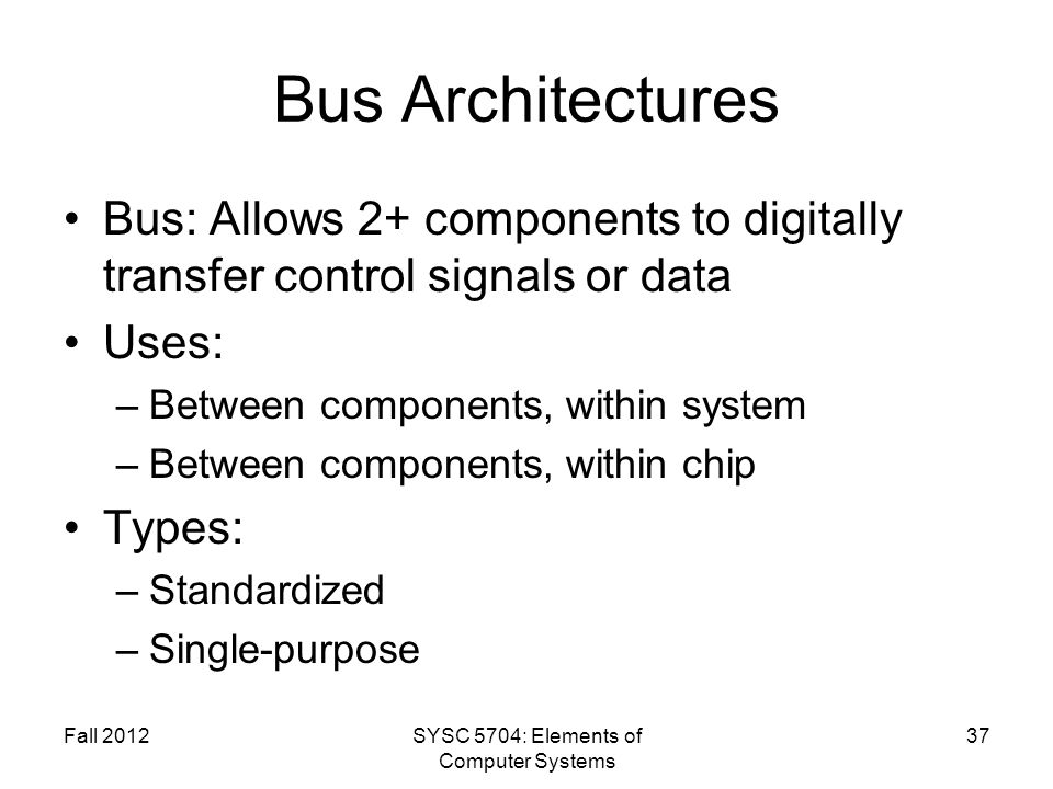 SYSC 5704: Elements of Computer Systems