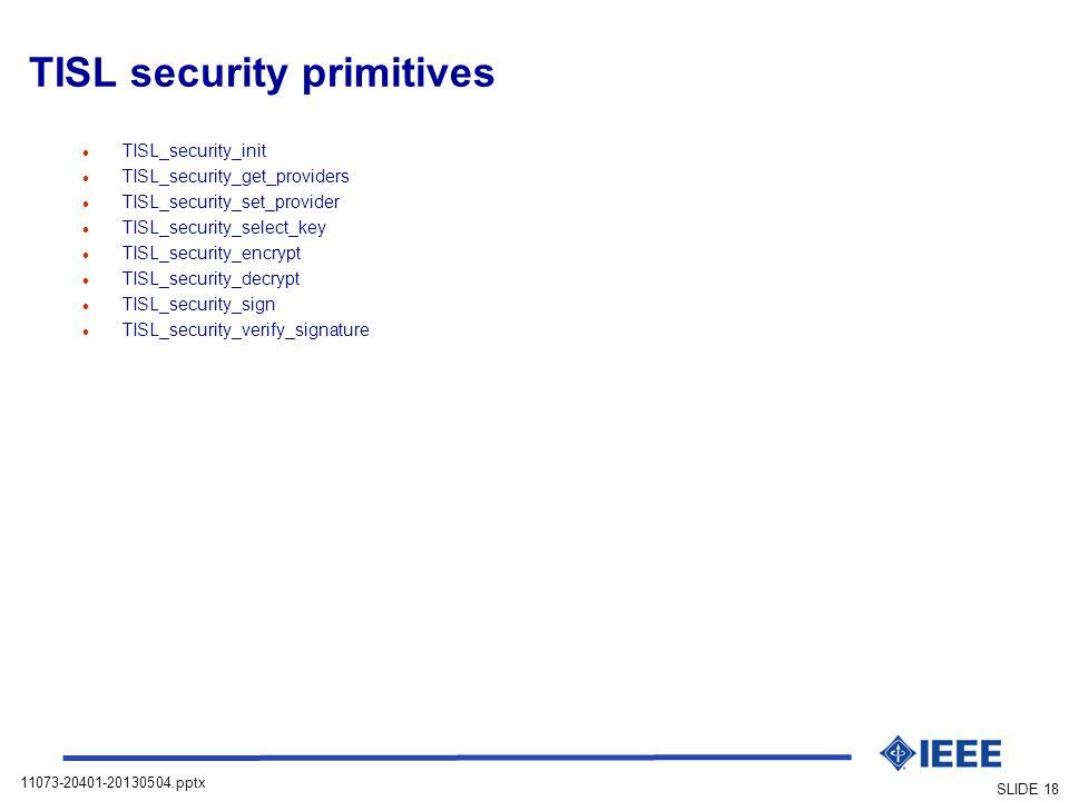 TISL security primitives