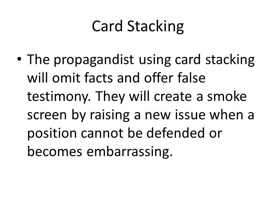 Card Stacking