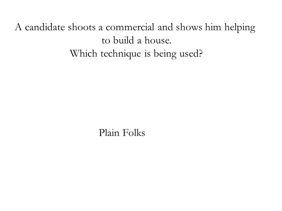 A candidate shoots a commercial and shows him helping
