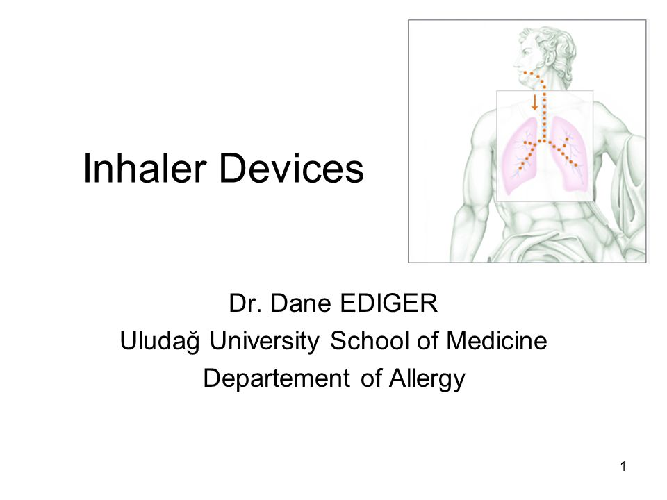 Inhaler Devices Dr. Dane EDIGER Uludağ University School of Medicine