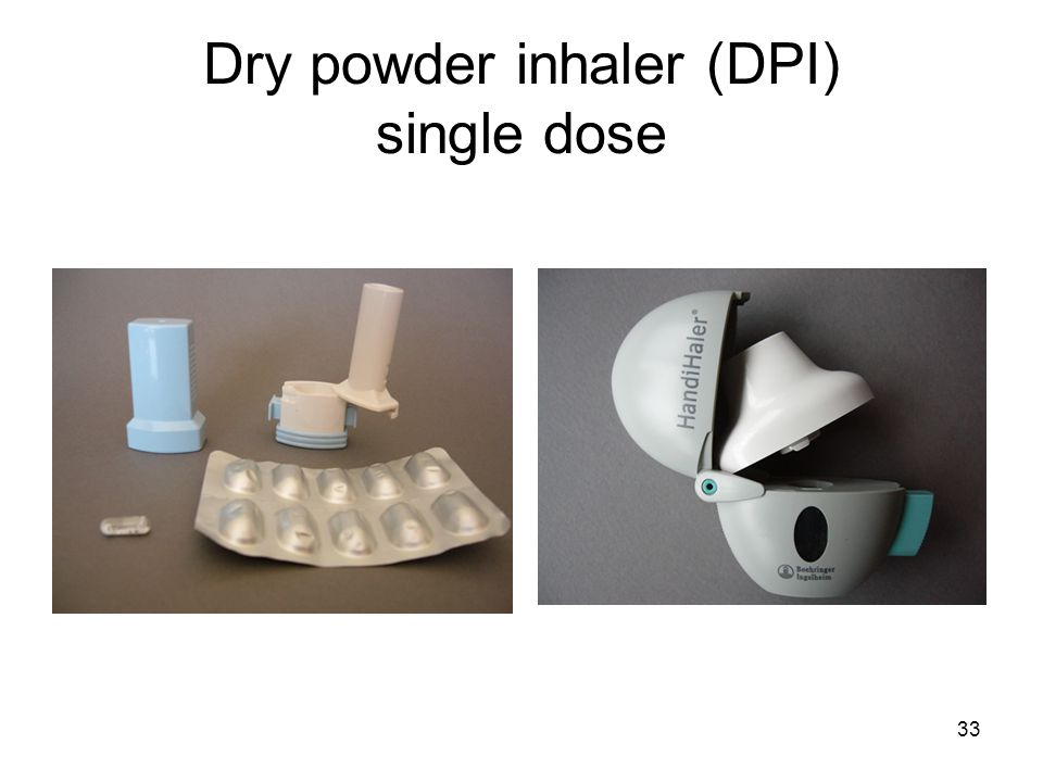 Dry powder inhaler (DPI) single dose
