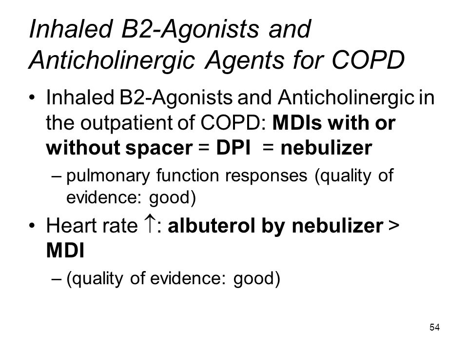Inhaled B2-Agonists and Anticholinergic Agents for COPD