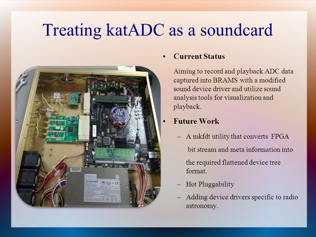 Treating katADC as a soundcard
