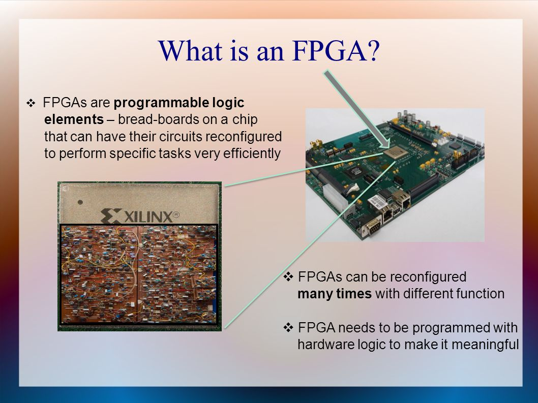 What is an FPGA elements – bread-boards on a chip