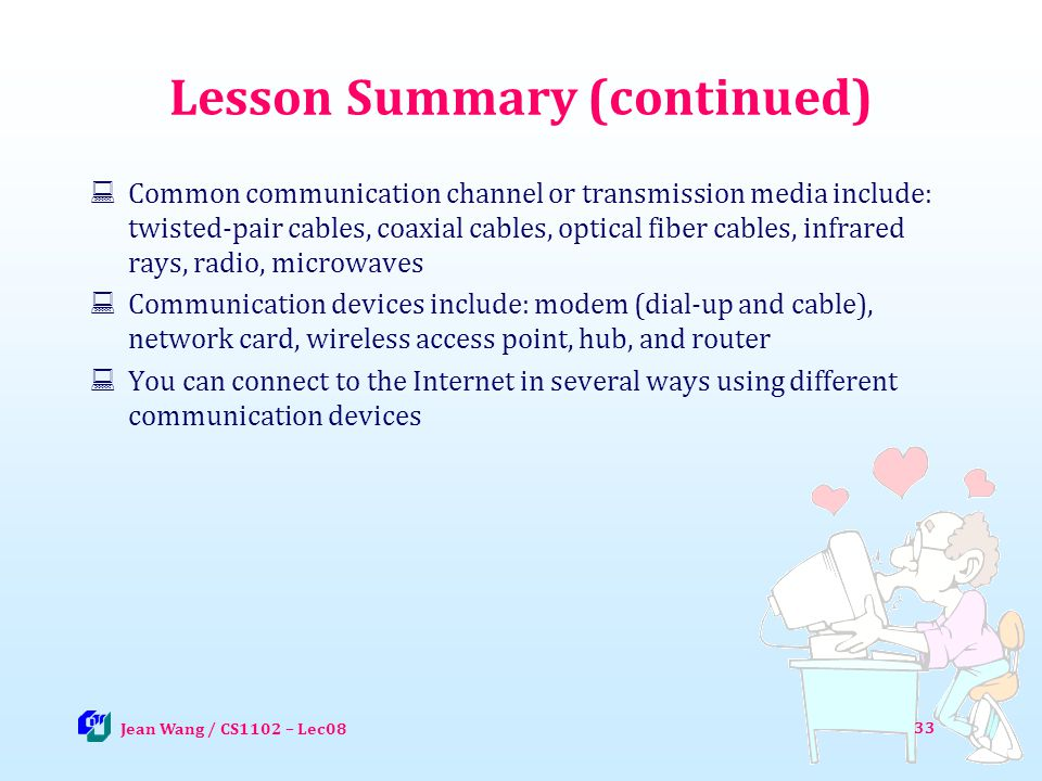 Lesson Summary (continued)
