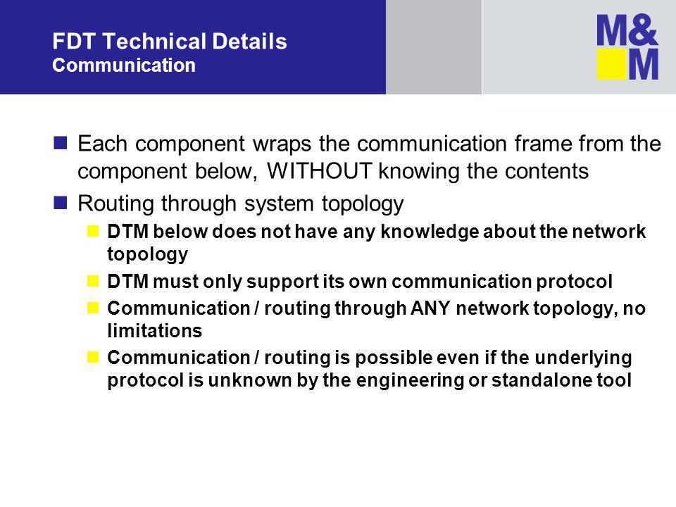 FDT Technical Details Communication