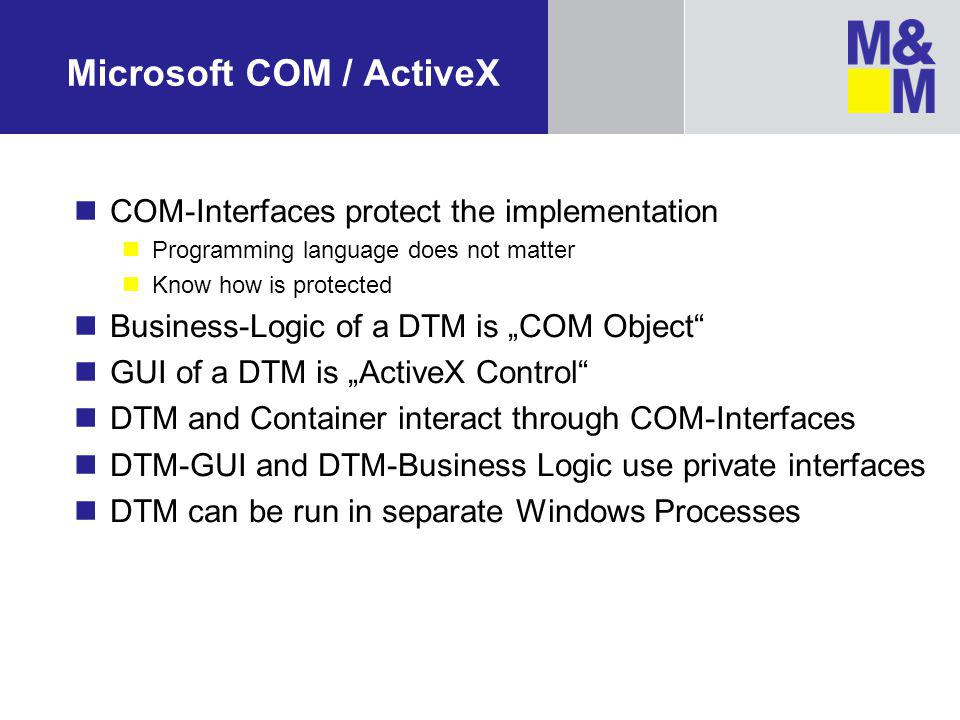 Microsoft COM / ActiveX