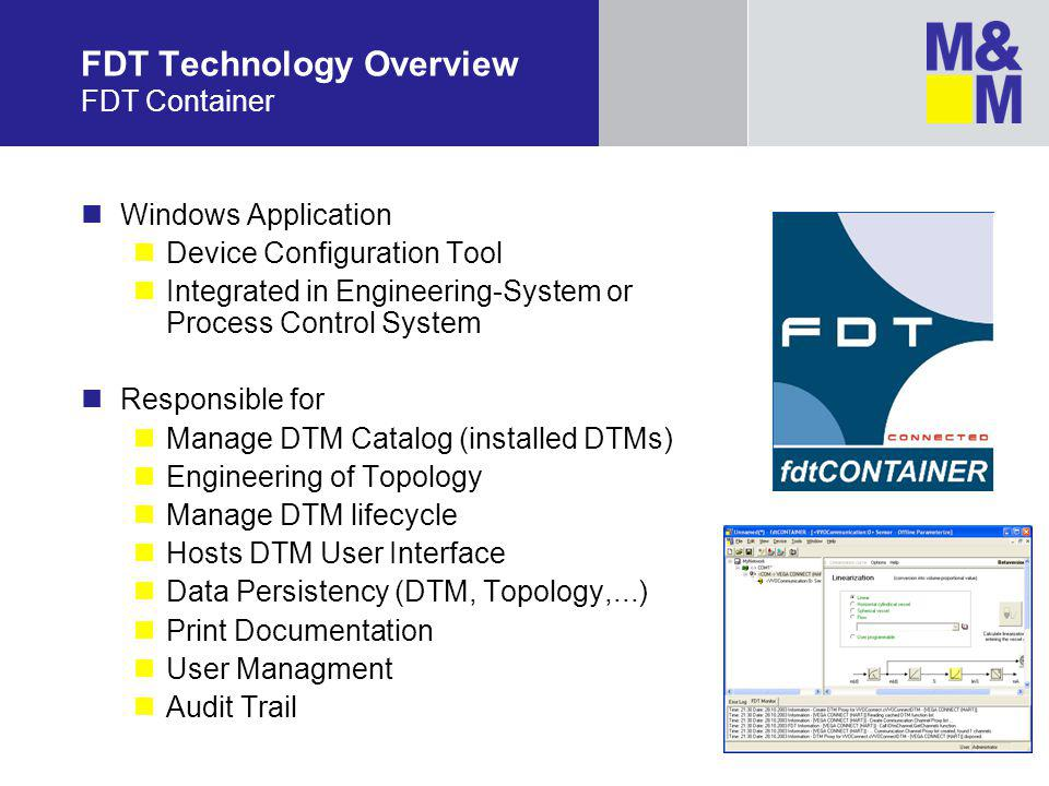 FDT Technology Overview FDT Container