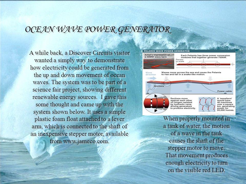 OCEAN WAVE POWER GENERATOR